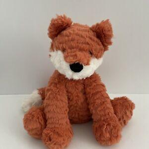 """Jellycat London Fuddlewuddle Fox cub Red and white stuffed animal plush 9"""" SOFT!"""