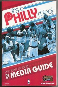 2006-07 Philadelphia 76ers NBA Basketball Media Guide Record Book