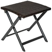 Aluminium Rattan Klapphocker Sitzhocker Beistelltisch Hocker Stuhl B-Ware