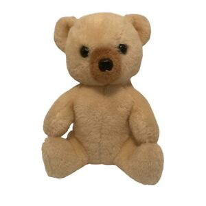 "Vintage 1977 Dakin Cream Teddy Bear Plush Wind Up Music Lullaby Stuffed 8"" WORKS"