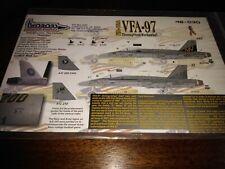1/48 030 TWOBOBS F/A-18A HORNET VFA-97 THOROUGHBRED WARHAWKS DECAL FOR HASEGAWA