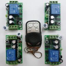 1PCS Remote Control 4PCS Receiver 12V Single Channel Wireless Relay Modules 433M
