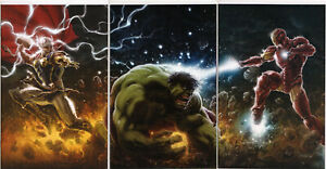 THOR #1, TONY STARK #1 & IMMORTAL HULK #1 VIRGIN CONNECTING VARIANT SET ~ Marvel