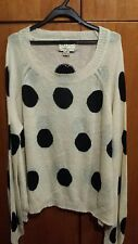 Wildfox White Label Large Polka Dot Long Sleeve Oversized Jumper Sz M BNWT