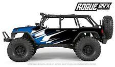 Axial SCX10 Rubicon or CRC Edition Body Graphic Wrap Skin- Go Fast Blue