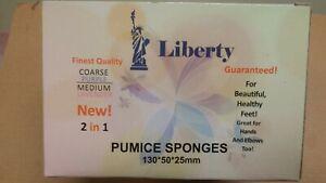 60 Pc Pumi Bar Sponge Pad 2in1 MEDIUM COARSE Comparable Mr Pumice Ultimate