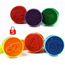 Set of 6pcs Different Dinosaur Stamps / Ink Stampers Children's Party Bag Favors