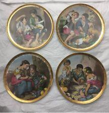JKW Western Germany 1930 7 3/4 Fine China  4 plates set
