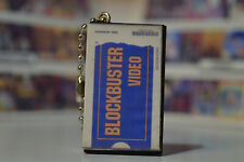 Blockbuster Rental Tape Case Ghostbusters 80s 90s movie vhs Blu Ray Keychain