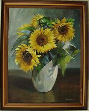 Robert Panitzsch 1879-1949, Stillleben mit Sonnenblumen, datiert 1947