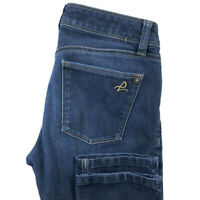 DL1961 Womens 25 Angel Mid Rise Skinny Ankle Dark Wash Blue Stretch Jeans