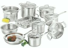 SCANPAN IMPACT (22040) 10 PIECE COOKWARE SET STAINLESS STEEL BRAND NEW AU STOCK