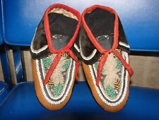 Iroquois Moccasins - Early and Beaded.