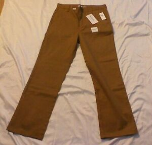 Old Navy Boys Uniform Pants 12 Husky Beige Chino 12 Plus New with Tags
