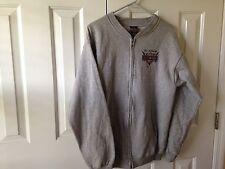 Harley Davidson Gray Zip Up Sweatshirt. Size L.