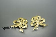 Askew London bow design gold-plated earrings