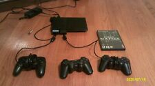 Sony PlayStation 2 - Slim Black Home Console with One Game