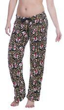Betty Boop Womens Plush Fleece Lounge Pajama Sleep Pants Leopard M
