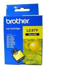 5x Brother Genuine LC-47Y LC47 Yellow MFC3240 DCP120C MFC210C MFC215C MFC3240C