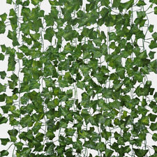 12pcs Artificial Ivy Leaf Garland Plants Vine Hanging Wedding Home Garden Decor