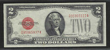 $2.00 Legal Tender, Rolled Digit, Error, Fr# 1508, 1928-G, Red Seal!