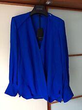 NEU! €239 ELISABETTA FRANCHI Georgette Bluse Hemd CA5184161 Gr. 36/ IT 42, blau