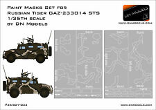 Camo + Windows Paint Masks for Russian Tiger GAZ-233014 STS 1/35