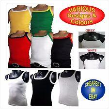 Cotton Patternless Sleeveless Basic T-Shirts for Men