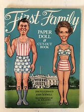 First Family Paper Doll and Cut Out Book, Ronald Reagan, 1981, Unused