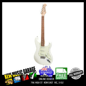 J&D LUTHIERS TRADITIONAL ST-STYLE ELECTRIC GUITAR VINTAGE WHITE