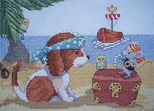 KL148 Isola dei Pirati-Sam & fa capolino (cane e mouse) Punto Croce Kit