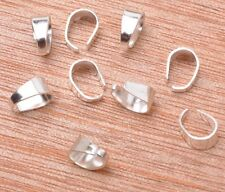 silver gold plated  Pendant Pinch Clip Clasp Bail Connector finding 8x6mm