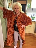 CRINKLE VELVET KIMONO CAFTAN FITS UP TO SIZE AU 24 US 20 WOMENS COVER UP