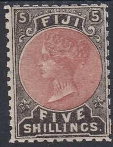 FIJI 1882 QV 5/-