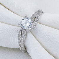 Newshe Wedding Engagement Ring For Women 925 Sterling Silver Round White Cz 5-10