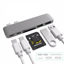 Type-C USB-C Hub Adapter Dual USB 3.0 Port Thunderbolt 3 For MacBook Pro Gray