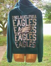 Victoria Secret PINK NFL PHILADELPHIA EAGLES Sweatshirt Hoodie  M   RARE!