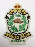 1916 Vintage City of Kitchener Ontario Patch Crest Canada Crown Beaver B307
