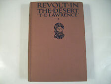 Revolt in the Desert T. E. Lawrence 1927 First Printing in America GC Rare 105I