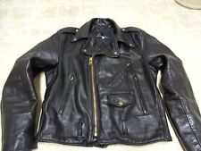 GREAT COND NOT MUCH USED  VINTAGE 70'S LESCO LEATHER MOTORCYCLE JACKET MEN 42