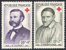 France 1958 Red Cross/St Vincent/Henri Dunant/Medical/Health 2v set (n20395)