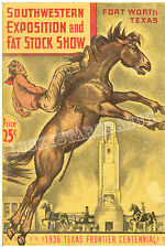 1936 Ft Worth Fat Stock Show TX Centennial Rodeo