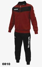 Chandal Givova Visa futbol Entrenamiento deportivo Gimnasio Hombre Mujer Sport Granata / Nero 3xl