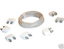 5 Stecker, 2 Kupplungen 2,5m Kabel Set für Puppenhausbeleuchtung Kahlert