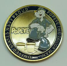US Navy POPEYE, The Sailor Man Chief Petty Officer Challenge Coin~