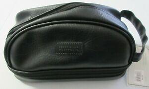 Perry Ellis Portfolio Men's Zip Water Resistant Travel Kit Black Bag