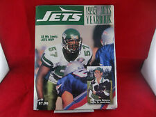 Vintage New York Jets NFL Football Official 1995 Yearbook With Poster