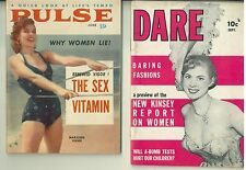 2 1950s Cheesecake Digest Magazines , DARE, PULSE Goldie Gibson