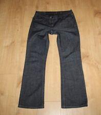 Blue Denim RIVER ISLAND Zip Low Rise Dark Wash Bootcut Jeans Size 12 / 38 L 30