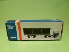 LION CAR 61 DAF TRUCKS 2800 CONTAINERTRAILER - 1:50 GOOD * ONLY EMPTY BOX * (37)